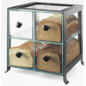 China Black Frame Acrylic Bakery Display Case With Four Compartment supplier