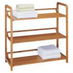 High Strength Bamboo Bathroom Supplies Bamboo Towel Rack 3 Tier Bath Furniture