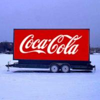 Outdoor full color video function truck mobile advertising led display/ P10 led trailer display for mobile truck for com