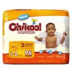 Tecidos descartáveis do bebê, meia embalagem transparente!