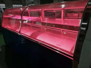 China Transparent Deli Display Refrigerator With Heater Glass Door / Freshing Beef Display Showcase on sale
