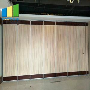 China Banquet Soundproof And Acoustic Sliding Partition Walls For Hotel Meeting Room on sale
