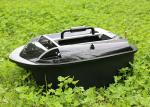 Black catamaran biat boat ABS plastic , carp bait boat lithium battery