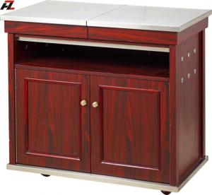 China Restaurant Kitchen Cart Island with Stainless Steel Top Shelf on sale