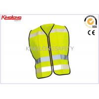 Spring / Autumn Unisex Reflective Safety Vest S M L XL with Nylon / Brass Zipper