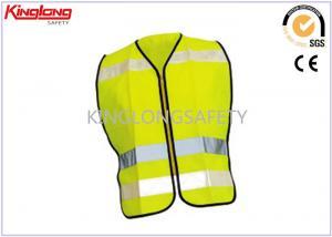 China Spring / Autumn Unisex Reflective Safety Vest S M L XL with Nylon / Brass Zipper on sale