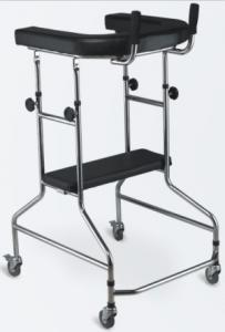 China STEEL WALKER WITH 4 CASTORS, WITH SEAT,  ADJUSTABLE HEIGHT on sale