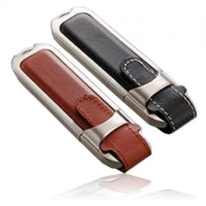 China Promotional gift 2GB mini leather USB flash drive on sale