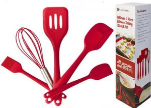 China non-stick silicone kitchen tools in Red on sale