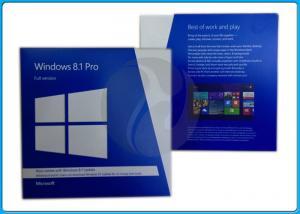 China 32 Bit 64 Bit Full Version Microsoft Windows 8.1 Pro Pack Retailbox on sale
