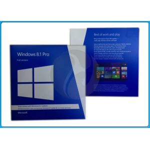 China 32 Bit 64 Bit Full Version Microsoft Windows 8.1 Pro Pack Retailbox on sale