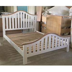 Cadres en bois de lit incurvés par meubles modernes simples de chambre à coucher avec la tête de lit