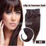 Smooth Soft Pre Bonded Dip Dye Hair Extensions / Dark Brown Virgin Hair