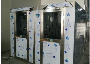 China HEPA Filtered Stainless Steel Cleanroom Air Shower Channel , PLC Control System on sale