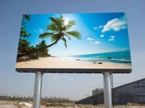 China HD Full Color Outdoor SMD LED Display Advertising Post Screen On Expreeway on sale