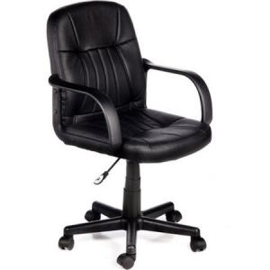 China black leather computer armchair office or visitor chair on sale