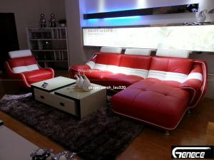 China Discount Sectional Sofa Red Swivel Sofa on sale