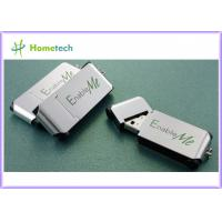 Metal Thumb drives - China Silver Metal thumb USB Pen with Keychain Suppliers
