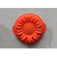China Food Grade Handmade Sunflower Silicone Cake Baking Molds Non Stick Washable on sale