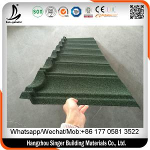 China Galvanized corrugated steel roofing sheets, sun stone chips metal roofing materials for house on sale