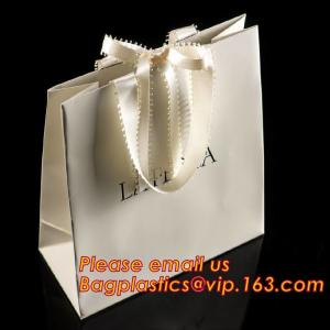 China luxury paper shopping bag for jewellry, twist handle luxury print fancy brown kraft art paper carrier bag wholesale on sale