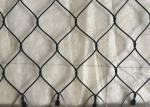 Black Oxide Coated Stainless Steel Netting Mesh , Wire Cable Netting Anti Weather