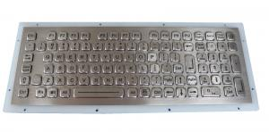 China Rugged 102 Keys Panel Mount Keyboard / Laptop Industrial Keyboard In Metal on sale
