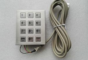 China 3 x 4 smart vending machine keypad with Braille dots stainless steel material on sale