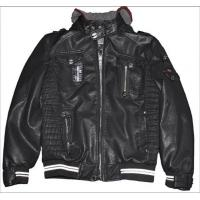 Black / Coffee, Comfortable Men, Casual and Bomber Mens Leather Jacket with Hood