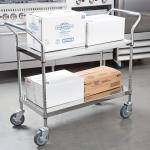 High quality Stainless Steel  solid shelf Work Table carts for restaurant kitchen
