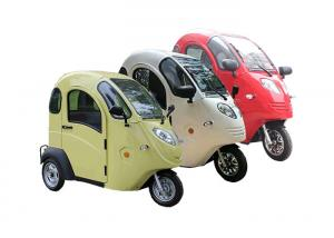China Max 25 Km/H The Elderly Covered Electric Tricycle , 800W Electric Trike Car on sale