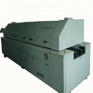 China Double Rail Solder Reflow Oven 8 Zone Hot Air Type With PC Control System on sale