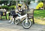 Aluminum Alloy Material Lightweight Folding Bike , Folding Electric Bicycle Disc Brake
