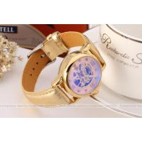 Hollow Golden Bangle Ladies Automatic Watch 26mm Case With Gold Skeleton