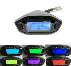 China 12V Lcd Display Digital Meter Motorcycle Odometer for 2-4 cylinder motorcycle modified Odometer Motorcycle Tachometer on sale