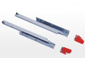 China 3 Fold Concealed Full Extension Drawer Slides , Furniture Drawer Slides Soft Close on sale