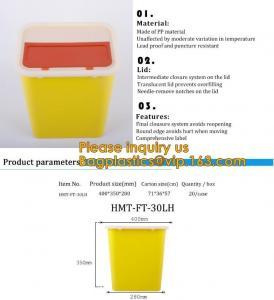 China Plastic Hospital Medical Disposal Waste Sharp Container,plastic round sharps disposal container with lid BAGEASE PACKA on sale
