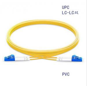 China Indoor LC/upc-LC/upc SM Duplex Yellow Fiber Optic Patch Cord on sale