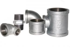 China Zinc - Coated Hydraulic Pipe Fittings , Galvanized Cross Pipe Fitting Various Type on sale