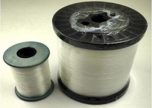 China Weaving Raw White 0.2MM 100 % Nylon Monofilament Yarn For 3# Zipper , eco friendly on sale