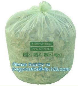 China Eco Friendly Disposable Biodegradable and Compostable Kitchen Waste Trash Collection Biodegradable Trash Bags Compostabl on sale