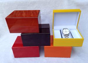 China Custom Made Wooden Watch Gift Box With Velvet Pillow , L145*W115*H80 MM on sale