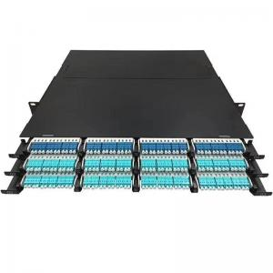 China MPO Fiber Optic Patch Panel 10G/40G/100G Data Center Cabling Systems 1U For 144 Fiber on sale