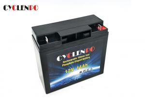China Long Cycle Deep Cycle LiFePO4 Battery 12v 14ah Over Discharge Protection No Explosion on sale