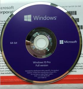 China Sealed Microsoft Windows 10 Pro Professional OEM COA 64 Bit DVD Pack on sale