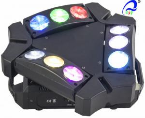 China 9 * 10W RGBW / White Mini 9 heads LED Spider Moving Head Light Quad - color on sale