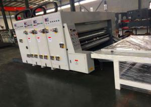 China Semi Automatic Flexo Ink Printer Four Link Slotter Die Cutter Machine 1 Year Waranty on sale