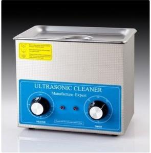 China CE Approval 0.6 Kw Benchtop Ultrasonic Cleaner White Color For Clock Parts on sale