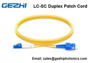 China OS2 9/125 Patch Cord Accessories , SM Duplex FTTH Jumper Cord 30 Meter Length on sale