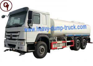 China HOWO 371HP 6X4 Sprayer Water Truck Stainless Steel Material with Fuel Tank Level Sensor on sale